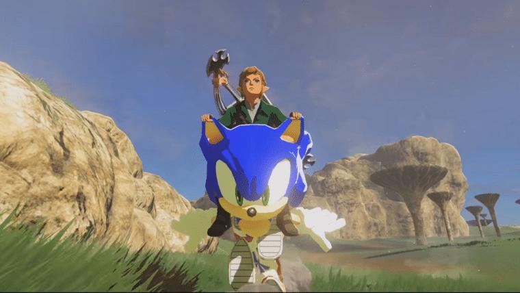 Link ganhou uma moto... exótica nesse mod de Breath of the Wild