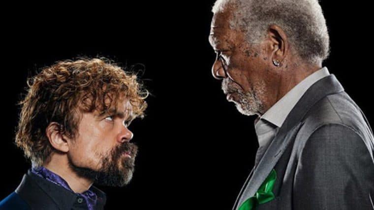Peter Dinklage e Morgan Freeman se enfrentam em uma batalha de rap para comercial