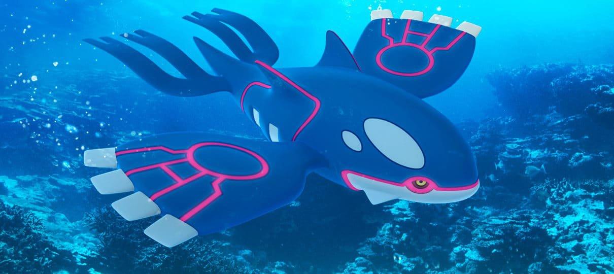 Kyogre é disponibilizado em Raid Battles de Pokémon GO