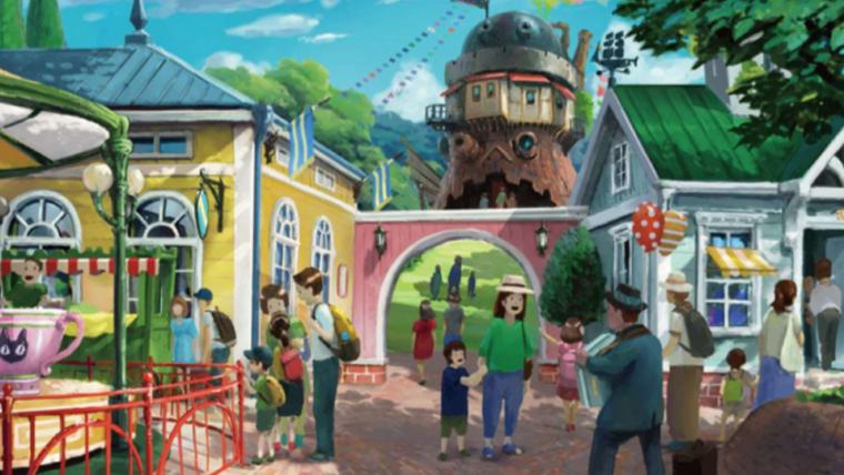 Adentre um novo mundo com as artes conceituais do parque temático do Estúdio Ghibli
