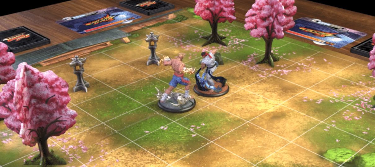 Street Fighter vira jogo de tabuleiro cheio de miniaturas detalhadas