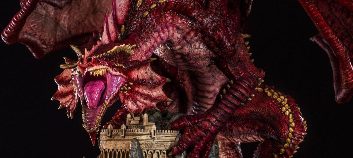 Dungeons & Dragons | Sinta a fúria de Klauth com essa estátua ÉPICA
