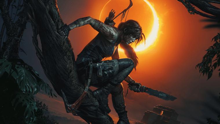 Arte de Shadow of the Tomb Raider traz Lara Croft preparada para lutar