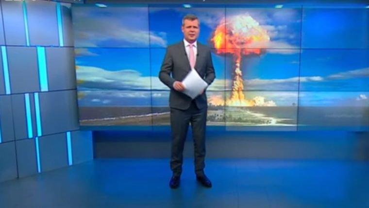 TV Russa avisa: CORRAM PARA AS MONTANHAS!