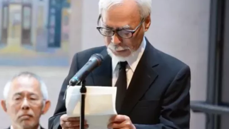 Hayao Miyazaki discursa sobre Isao Takahata durante memorial no Museu da Ghibli