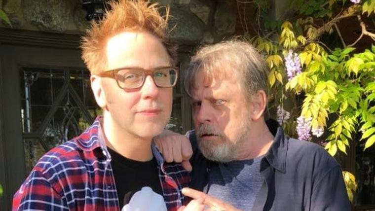 Depois de conversarem no Twitter, James Gunn e Mark Hamill se encontraram para um café