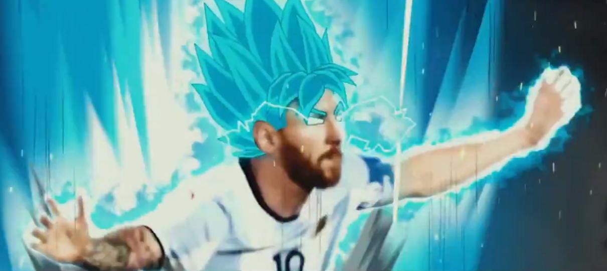 Vídeo mostra Messi se transformando em Super Saiyajin Blue