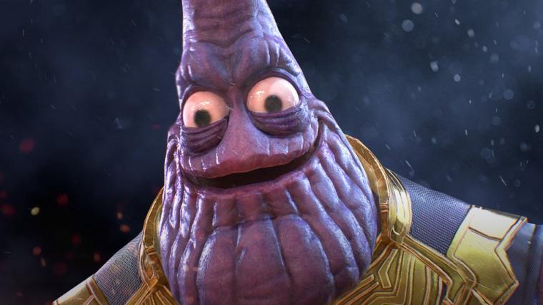 Phanos? Thatrick? Artista combina Patrick, a estrela, e Thanos em arte assustadora
