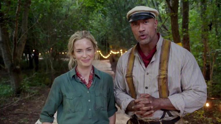 Emily Blunt e Dwayne Johnson têm rivalidades amigáveis em vídeo de Jungle Cruise