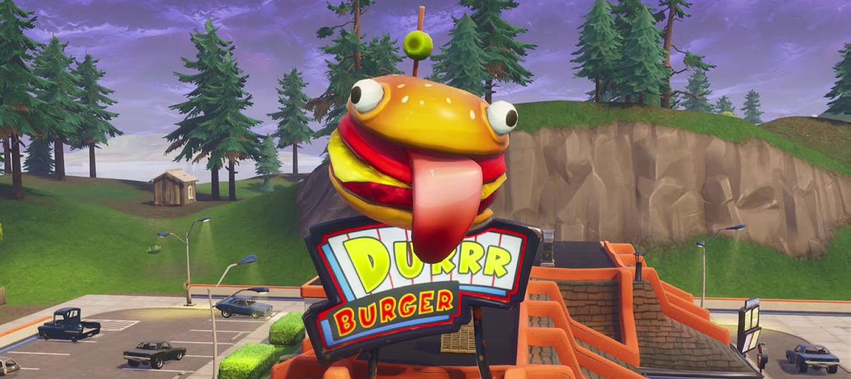 Fortnite invade o mundo real: Durr Burger é encontrado em deserto nos EUA