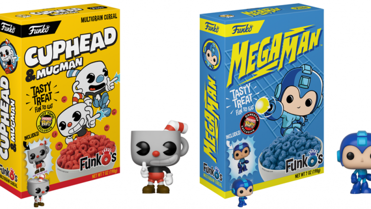Funko anuncia cereais com miniaturas de Cuphead, Mega Man, Senhor dos Anéis e mais!
