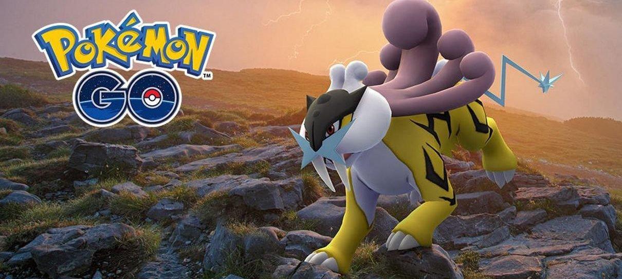 Pokémon Go adiciona nova chance para jogadores capturarem um Raikou