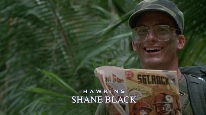 Shane Black em O Predador, de 1987