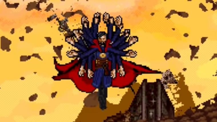 Fã recria luta de Vingadores contra Thanos em 16-bit