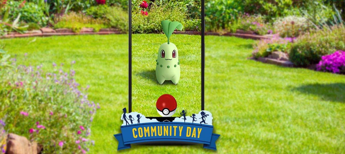 Pokémon GO   Chikorita estrelará o Dia Comunitário de setembro