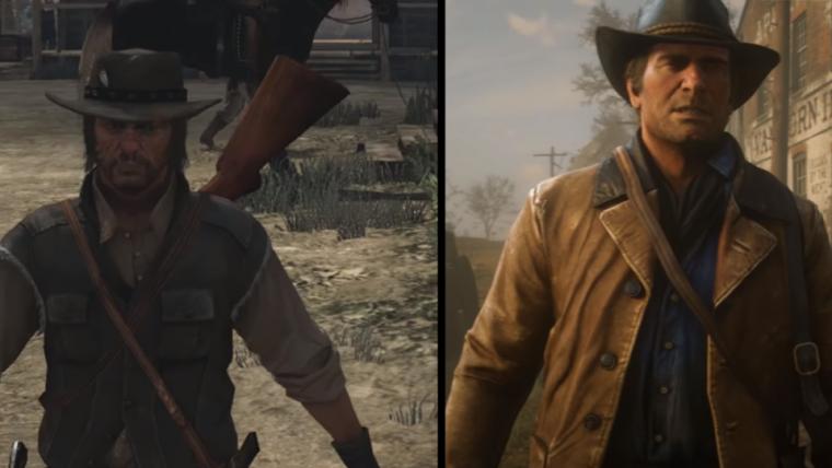 Fã cria vídeo comparando gráficos de Red Dead Redemption com sua sequência