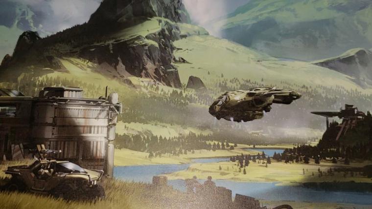 Arte conceitual de Halo Infinite mostra a imensidão dos cenários do jogo