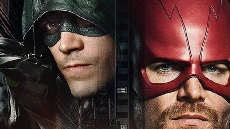 Arrow vira Flash e Flash vira Arrow em pôster do crossover das séries da DC