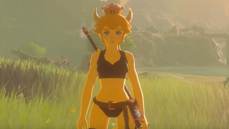 Bowsette invade Zelda: Breath of the Wild em novo mod feito por fã