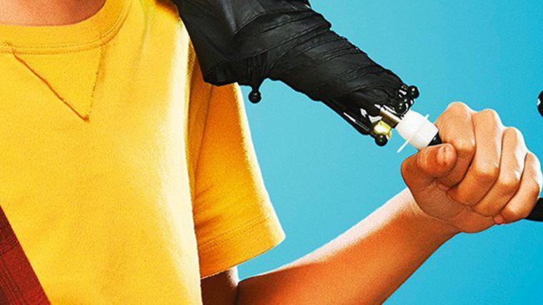 Turma da Mônica: Laços | Cascão está bem equipado com seu guarda-chuva em novo cartaz