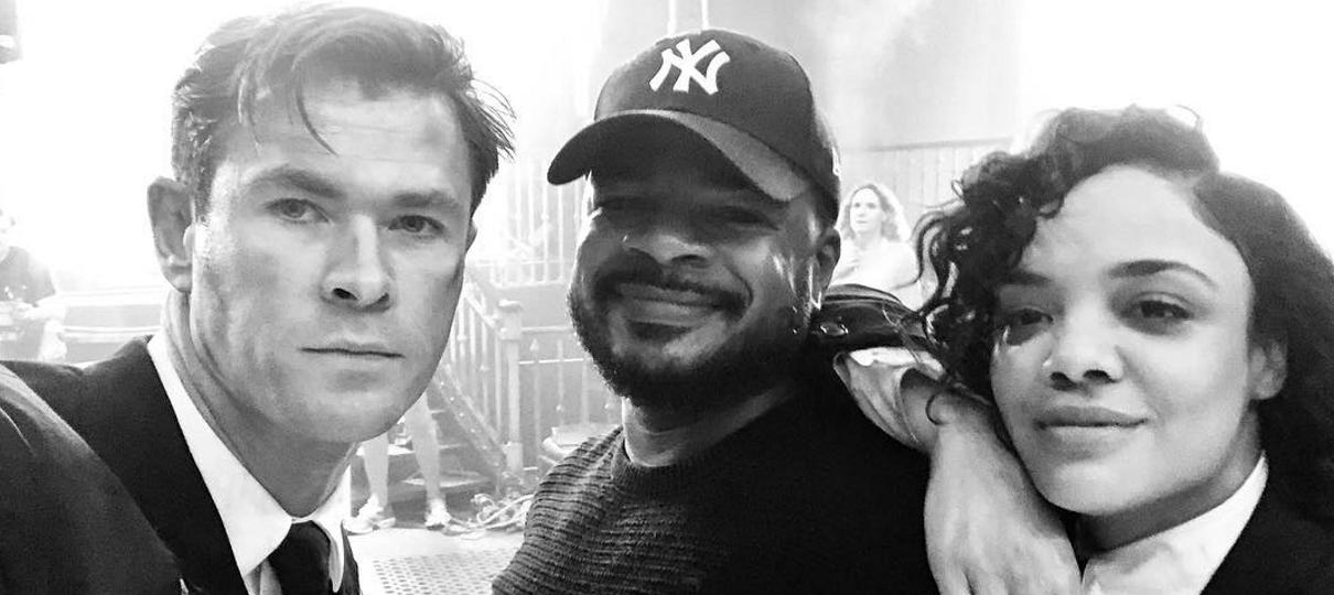 Homens de Preto | Chris Hemsworth publica fotos anunciando fim das filmagens