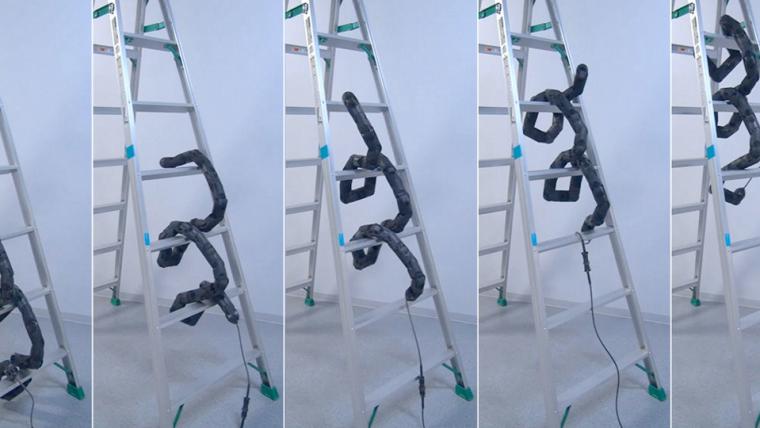 Cobra robô sobe escada e o resultado é assustador