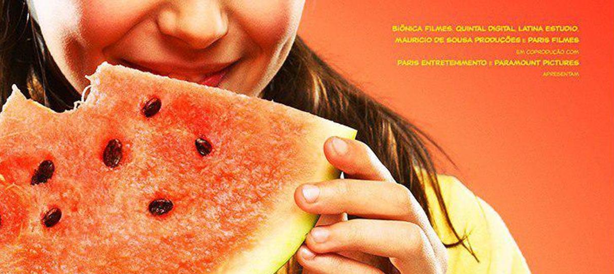 Magali segura uma melancia em novo cartaz de Turma da Mônica: Laços