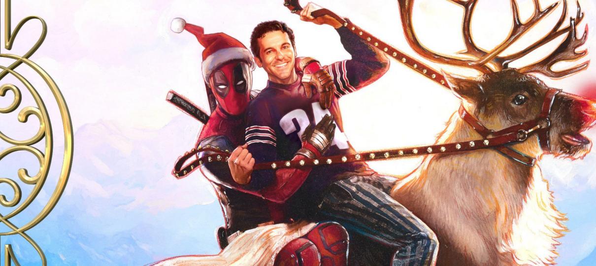 Ryan Reynolds monta em rena em cartaz oficial de Once Upon a Deadpool