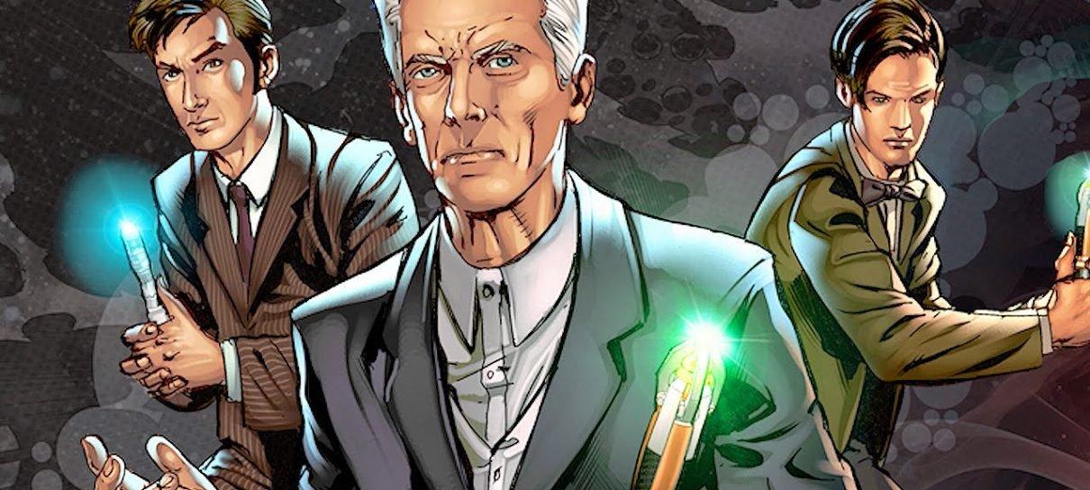Doctor Who | HQ com crossover entre quatro Doutores deve chegar ao Brasil em 2019