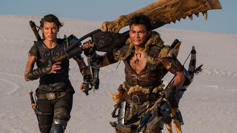 Nova foto do filme de Monster Hunter exibe espada de ossos