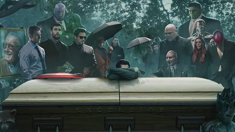 Heróis comparecem ao funeral de Stan Lee em arte de BossLogic