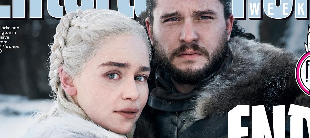 Daenerys e Jon Snow se abraçam em primeira foto da última temporada de Game of Thrones