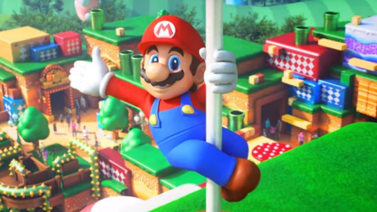 Parque temático Super Nintendo World começa a ser construído