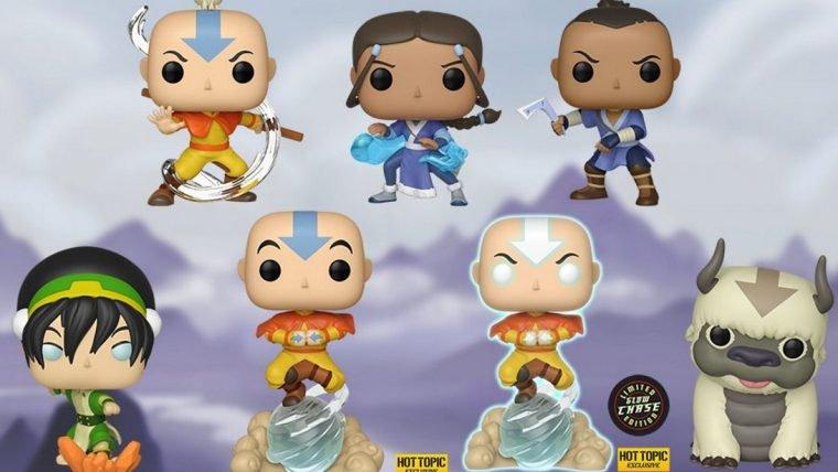 Funko lança linha de colecionáveis cabeçudos de Avatar: A Lenda de Aang