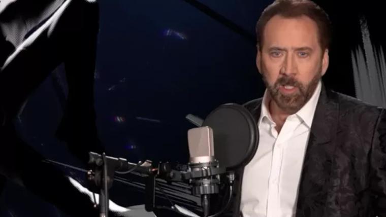 Nicolas Cage mostra todo o potencial de sua atuação em bastidores de Aranhaverso