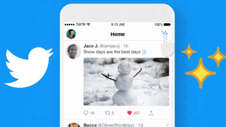 Twitter implementa botão para alternar entre tuítes recomendados e recentes