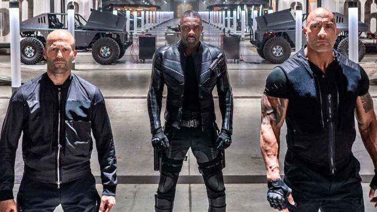 The Rock divulga foto apresentando Idris Elba em Hobbs & Shaw