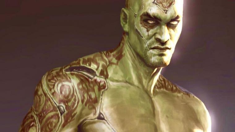 Arte conceitual mostra Jason Momoa como Drax em Guardiões da Galáxia