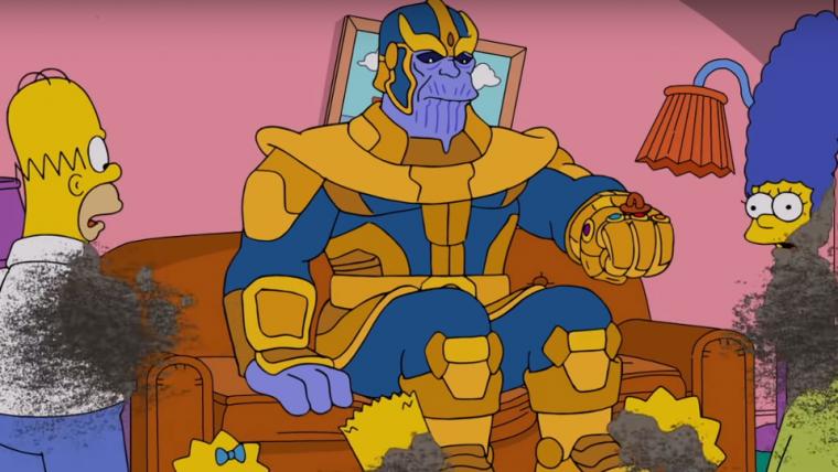 Thanos aniquila Os Simpsons em nova abertura do programa