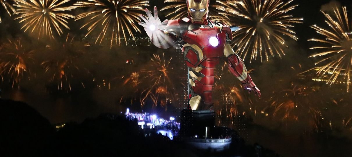 Queima de fogos em Copacabana teve trilha sonora de Os Vingadores