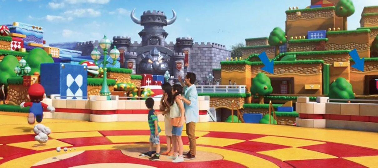 Esboços do parque temático da Nintendo mostram áreas do universo de Mario Bros.