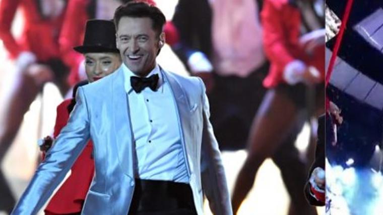 Hugh Jackman faz apresentação musical gigantesca no BRIT Awards