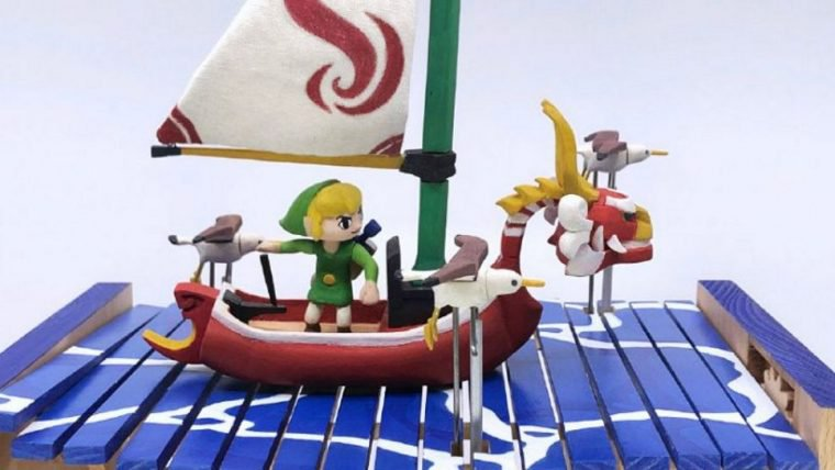 The Legend of Zelda: The Wind Waker | Fã constrói autômato de madeira com o Link navegando