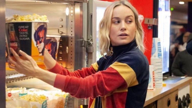 Brie Larson apareceu de surpresa em sessões de Capitã Marvel