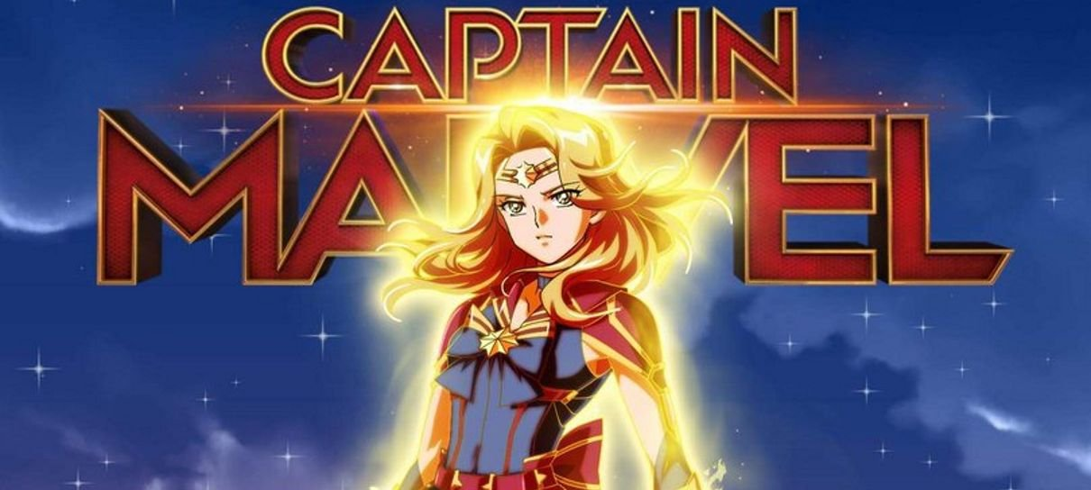 Fã imagina Capitã Marvel como Sailor Moon (e Brie Larson aprova)