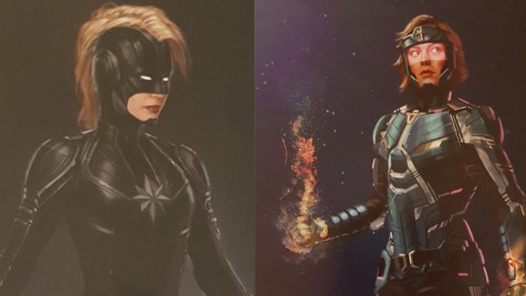 Capitã Marvel | Artes conceituais mostram uniformes alternativos da heroína