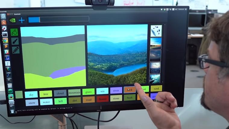 Inteligência artificial transforma desenhos simples em paisagens realistas