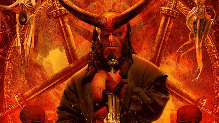 Hellboy exibe seus chifres em novo cartaz do filme