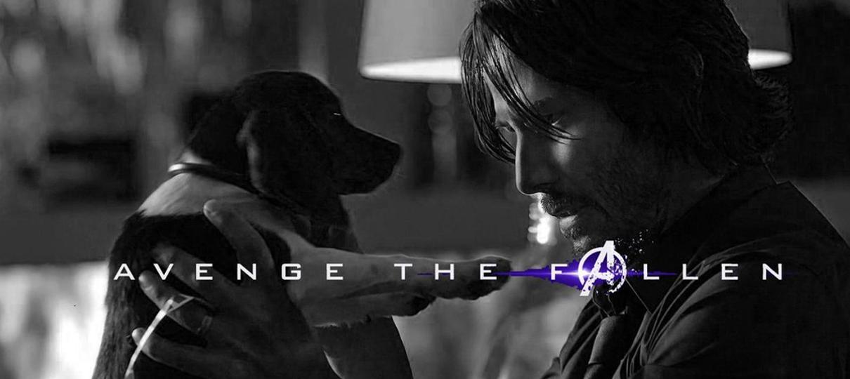 Conta oficial de John Wick brinca com cartazes de Vingadores: Ultimato e promete vingança