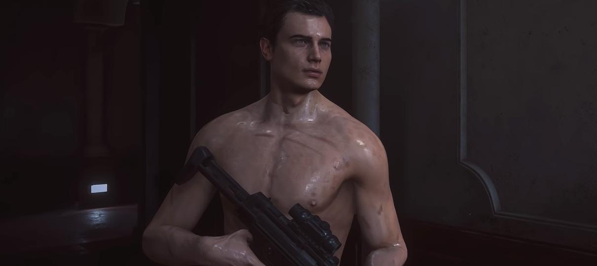 Mod de Resident Evil 2 deixa Leon só com uma sunga fio dental